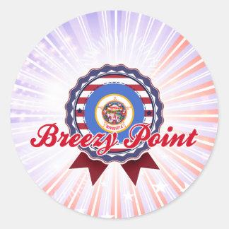 Breezy Point, MN Round Sticker