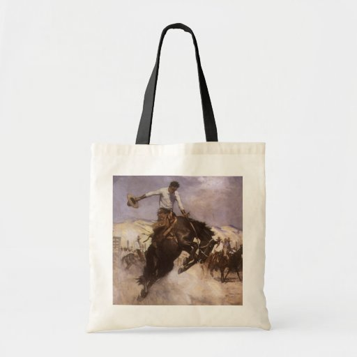 Breezy Riding by WHD Koerner, Vintage Rodeo Cowboy Bag