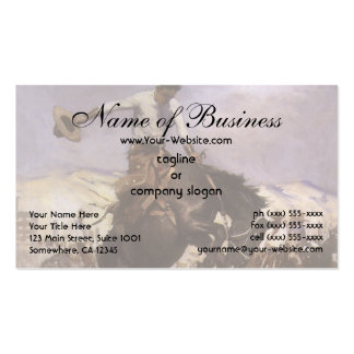 Breezy Riding by WHD Koerner, Vintage Rodeo Cowboy Double-Sided Standard Business Cards (Pack Of 100)