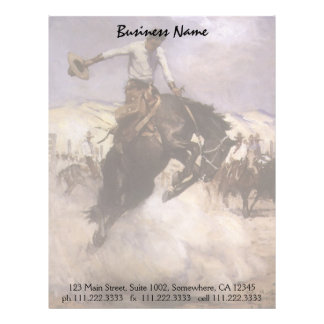 Breezy Riding by WHD Koerner Vintage Rodeo Cowboy Personalized Letterhead