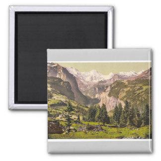 Breithorn from Wengen, Bernese Oberland, Switzerla Magnet