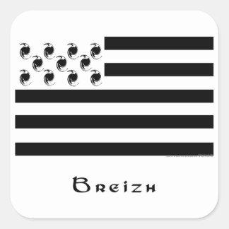 breizh square sticker