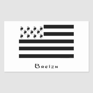 breizh rectangle stickers