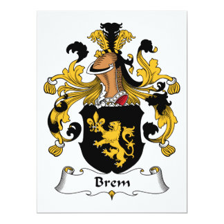 Brem Family Crest Card