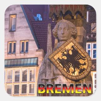 Bremen 01B Calcomanía Cuadradase