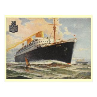 """""""Bremen"""" 1929 Postcard"""