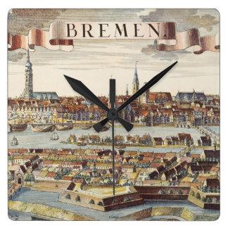 Bremen, Alemania, 1719 Reloj Cuadrado