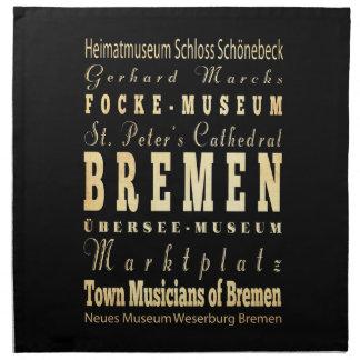 Bremen City of Germany Typography Art Napkin