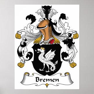 Bremen Family Crest Poster