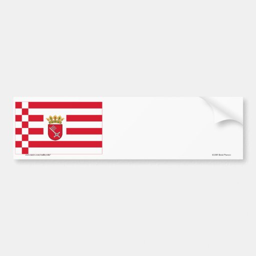 Bremen Flag with Lesser Arms Bumper Stickers