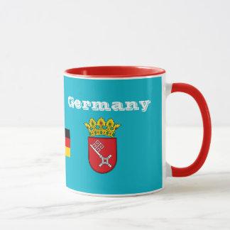 Bremen Germany Crest & Flag Mug