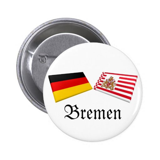 Bremen, Germany Flag Tiles 2 Inch Round Button