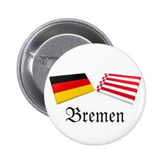 Bremen, Germany Flag Tiles Pinback Button