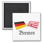 Bremen, Germany Flag Tiles Magnets