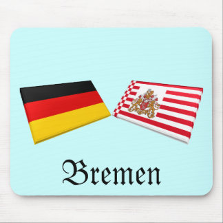 Bremen, Germany Flag Tiles Mouse Pad