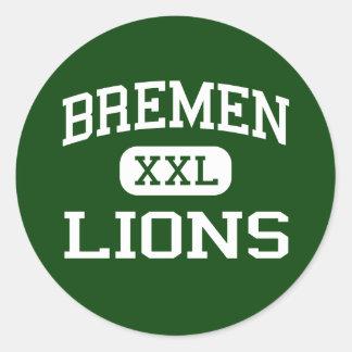 Bremen - leones - High School secundaria - Bremen  Pegatina