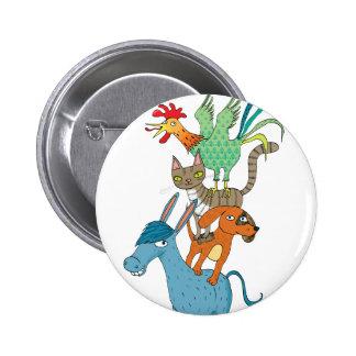 Bremen musicians pinback button