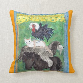 Bremen Town Musicians Throw Pillow