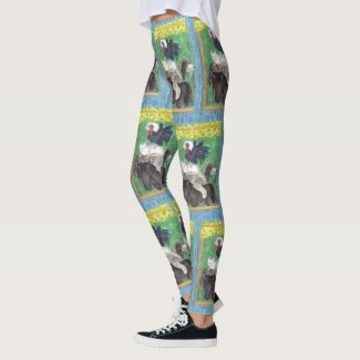 Bremen Town Musicians watercolour art by EelKat Leggings