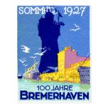 Bremerhaven 1927 Alemania Postal