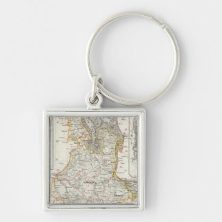 Bremerhaven Germany Silver-Colored Square Keychain