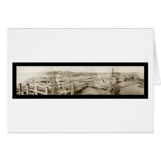 Bremerton, foto 1913 de la marina de guerra de WA Tarjeta De Felicitación