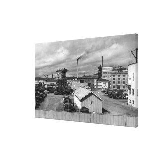 Bremerton, opinión de WA de la fotografía del pati Impresión En Lienzo