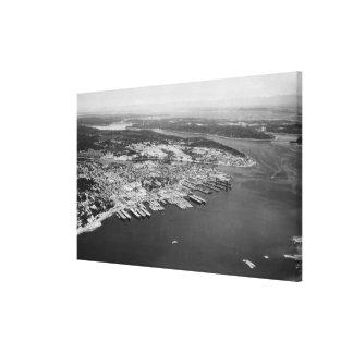 Bremerton, WA - vista aérea de la fotografía de la Impresión En Lienzo