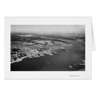 Bremerton, WA - vista aérea de la fotografía de la Tarjeta De Felicitación