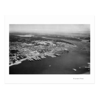 Bremerton, WA - vista aérea de la fotografía de la Tarjeta Postal