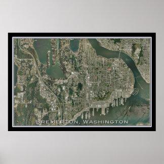 Bremerton Washington del arte del satélite del