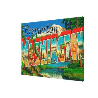 Bremerton, Washington - escenas grandes de la letr Impresión En Lienzo