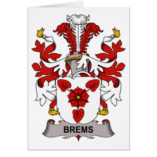 Brems Family Crest Card