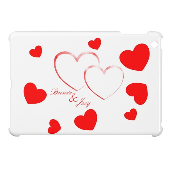 Brenda & Joey - Cute Hearts with Names - Case For The iPad Mini