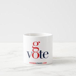 Brenda Lenard Go Vote Espresso Mug