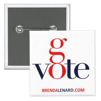 Brenda Lenard va botón cuadrado del voto