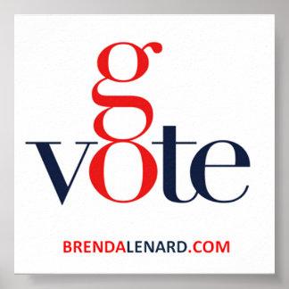 Brenda Lenard va poster del voto