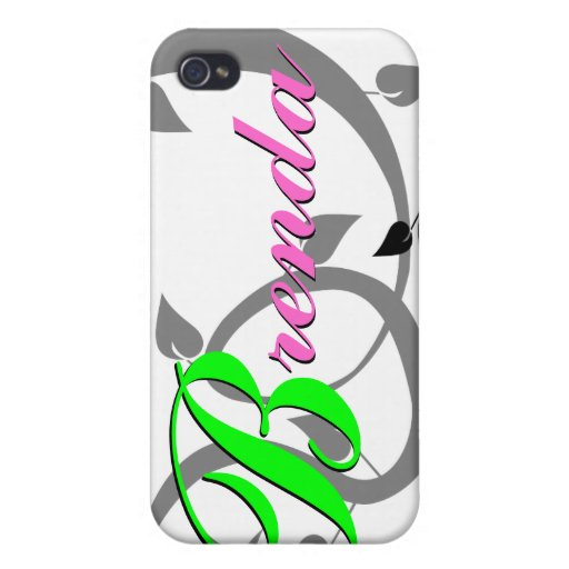 Brenda personalizó el iPhone 4, caso 4S iPhone 4/4S Funda