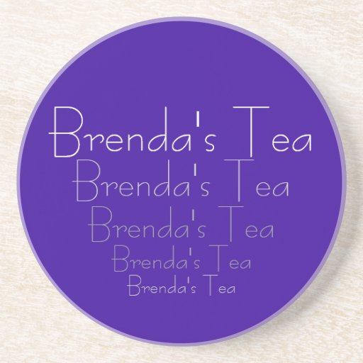 Brenda's Tea Coaster (or yours) Customizable Gift