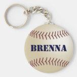 Brenna Baseball Keychain by 369MyName