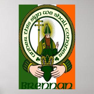Brennan Clan Motto Poster Print