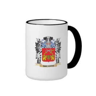 Brennan Coat of Arms - Family Crest Ringer Coffee Mug