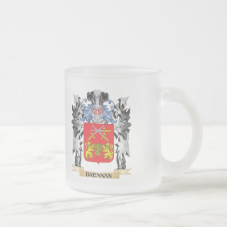 Brennan Coat of Arms - Family Crest 10 Oz Frosted Glass Coffee Mug