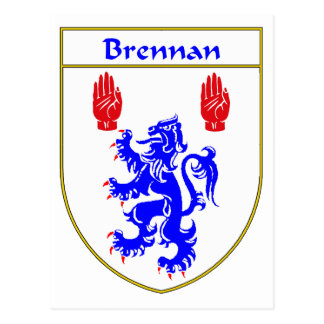 Brennan Coat of Arms/Family Crest Postcard