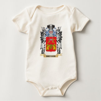 Brennan Coat of Arms - Family Crest Baby Bodysuits