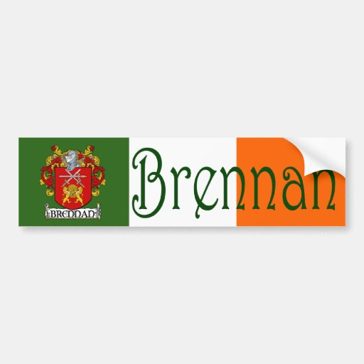 Brennan Coat of Arms Flag Bumper Sticker Car Bumper Sticker