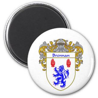 Brennan Coat of Arms (Mantled) Magnet