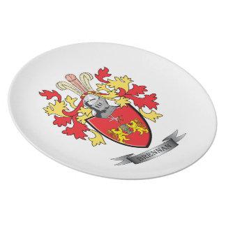 Brennan Coat of Arms Melamine Plate