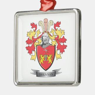 Brennan Coat of Arms Metal Ornament