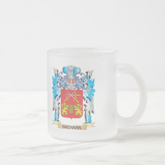 Brennan Coat of Arms 10 Oz Frosted Glass Coffee Mug
